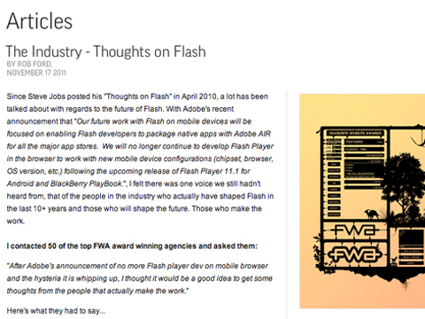 Fi Shares Thoughts on Flash